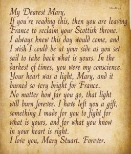 Lettera di Francis a Mary