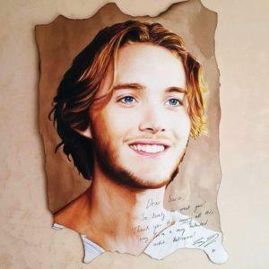 @sara_scrive - ritratto con autografo di Toby