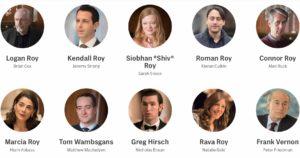 """SUCCESSION"" (HBO) - Cast (ruoli principali)"