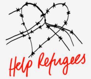 """Help Refugees"" - Logo"