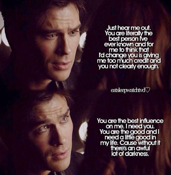 The Vampire Diaries: you are the good