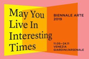 Il logo della Biennale d'Arte che si trova a Venezia.