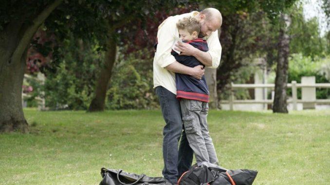 """Theo e suo papà in """"Un sogno per papà"""""""