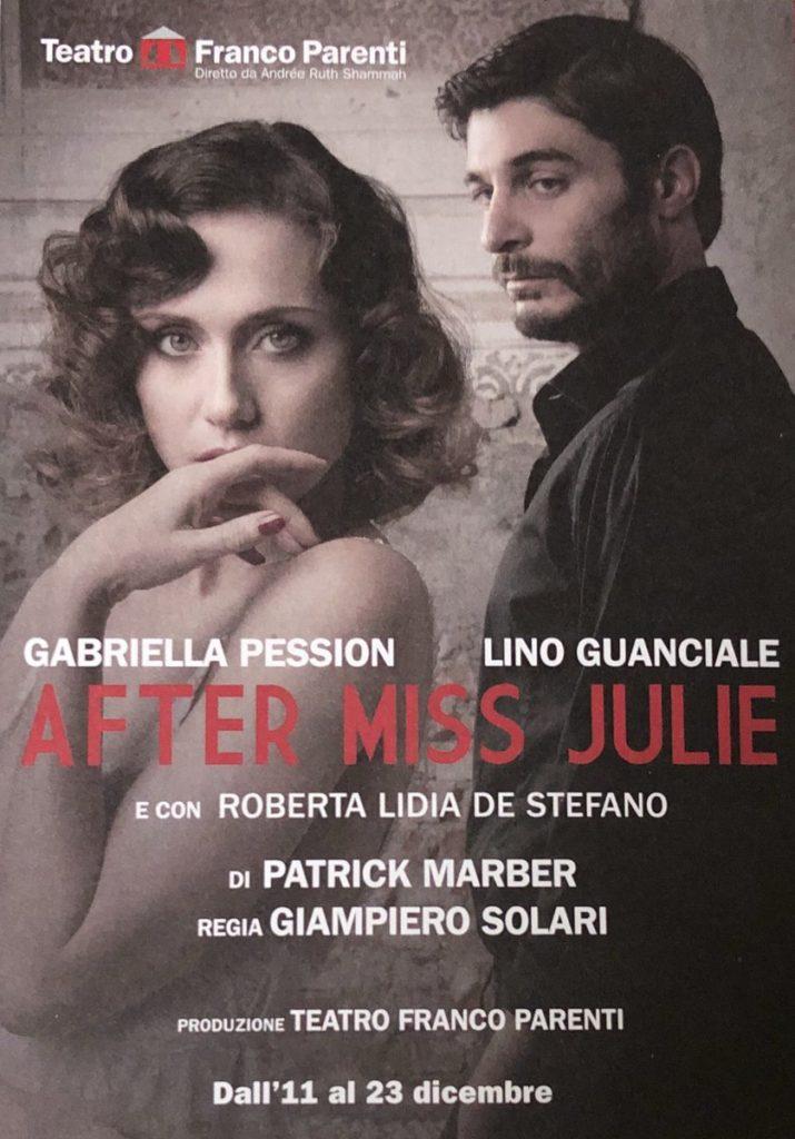 After Miss Julie: locandina