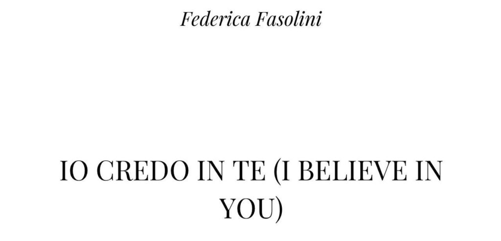 Io credo in te di Federica Fasolini   Recensione