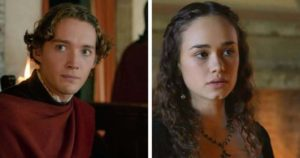 Toby Regbo (Tommaso Peruzzi) e Rose Williams (Caterina Sforza Riario)