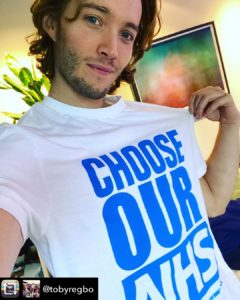 Toby Regbo: e BLM! Toby Regbo pro NHS (Repost)