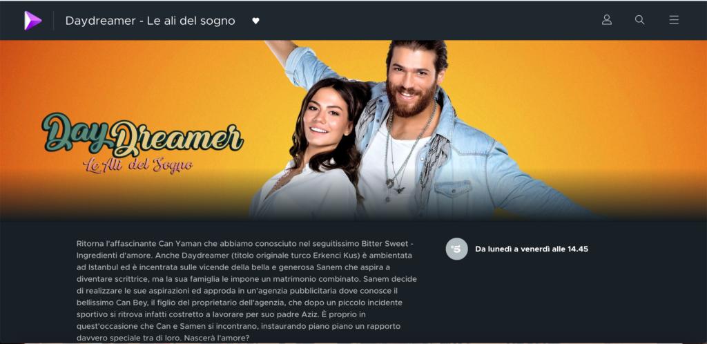 Daydreamer Mediaset Play