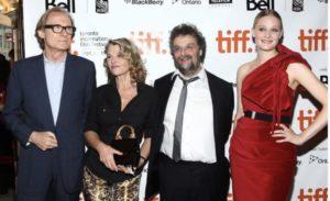 "Toby Regbo: ""Glorious 39"". Da sinistra: Bill Nighy, Julie Christie, Stephen Poliakoff e Romola Garai al ""tiff""."