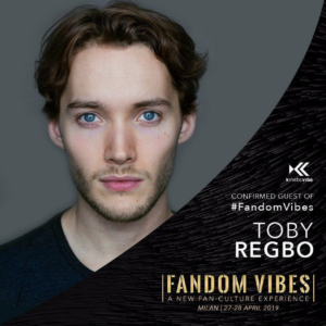 Toby Regbo: 26 agosto 2019. Toby Regbo - Convention Milano 2019 (Instagram)