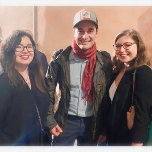 Sofia & Alessandra, le miministratrici della fanpage Lino Guanciale Italia, incontrano Lino Guanciale