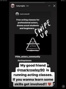 "Toby Regbo ""promuove"" l'iniziativa del collega Mark Rowley"