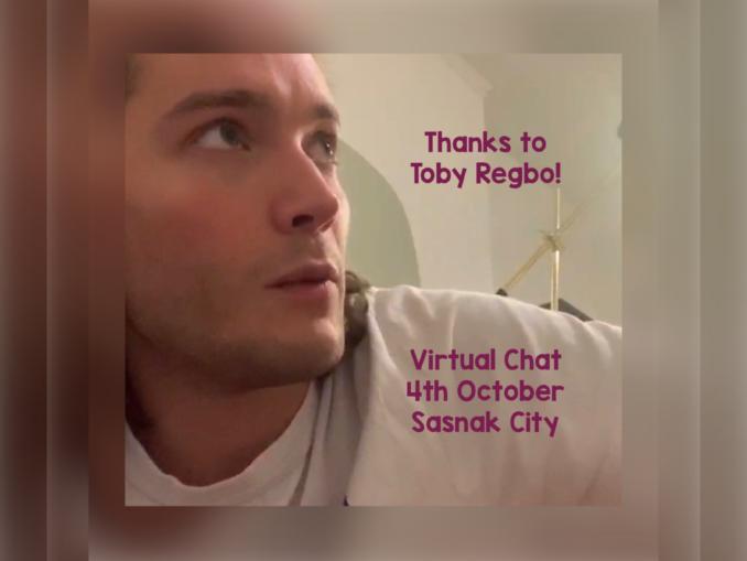 Toby Regbo: Virtual Chat.
