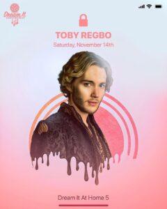 "Toby Regbo sarà a ""DIAH5″ (mio Instagram – 5 novembre)"