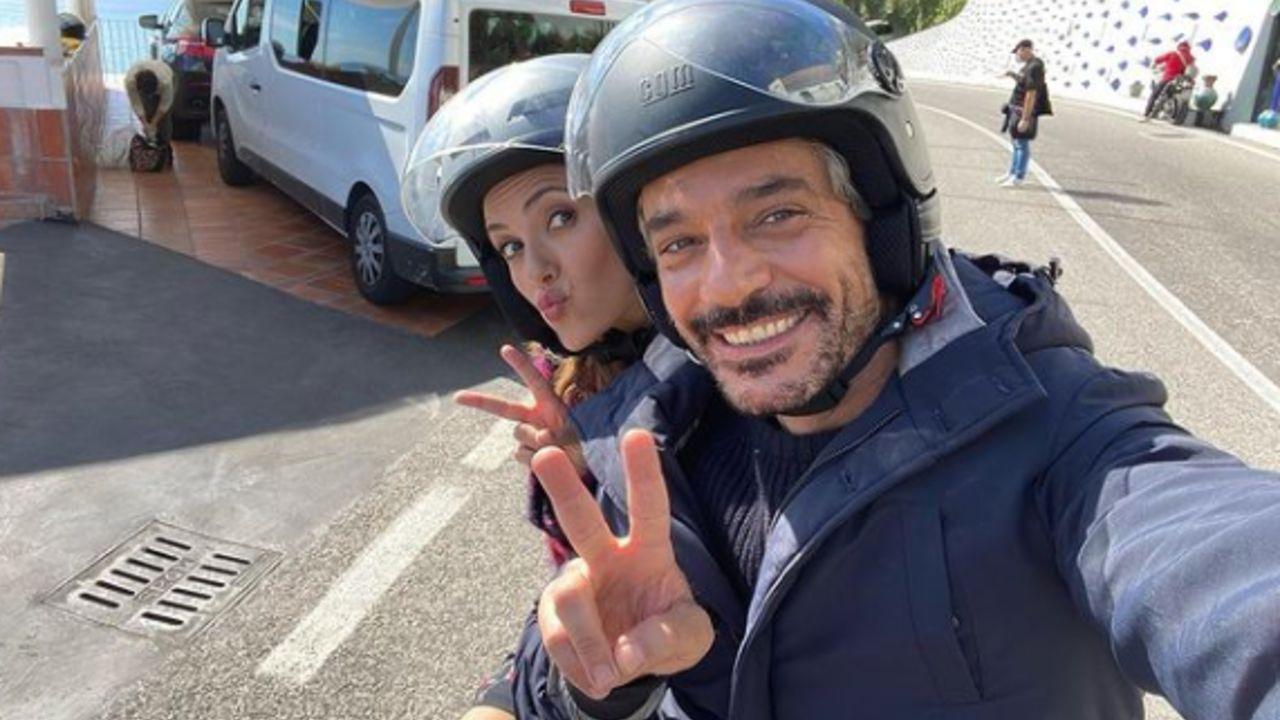serena-rossi-giuseppe-zeno-selfie-in-motorino